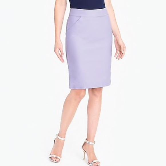 8eb4a9156f4c J. Crew Skirts   Nwt Jcrew Lavender Cotton Pencil Skirt Size 00 ...
